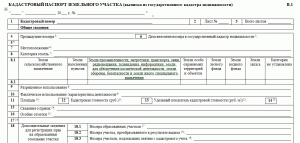 Как выглядит кадастровый паспорт на земельный участок (образец формы)